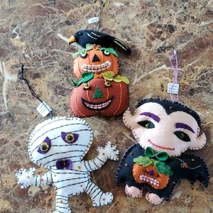Bundle of 3 Halloween Ornaments